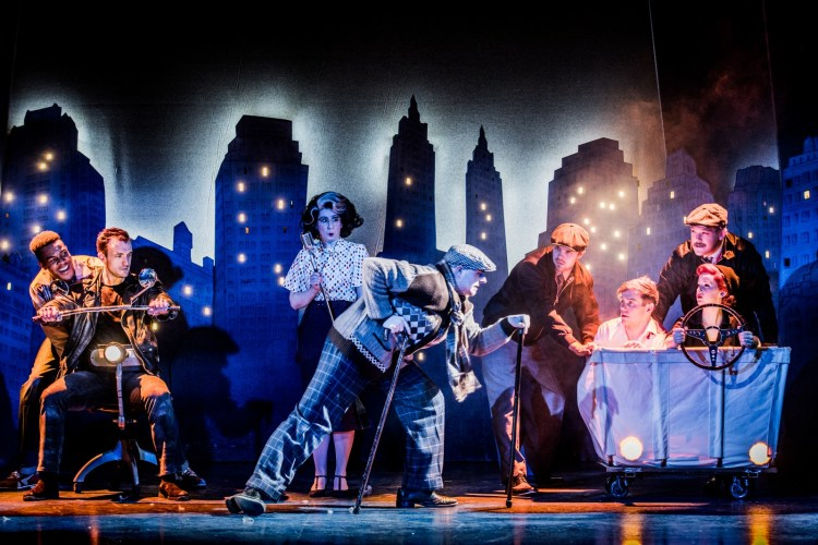 The Comedy About a Bank Robbery, playing at the Criterion Theatre in London's West End