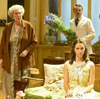 Margaret Tyzack, Jamie Glover and Felicity Jones in The Chalk Garden