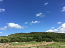 Bright skies at Vindolanda