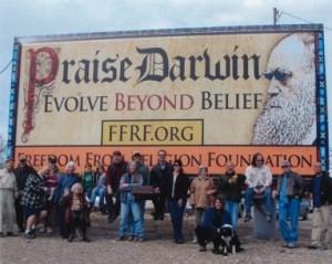 The Darwin billboard on Highway 50