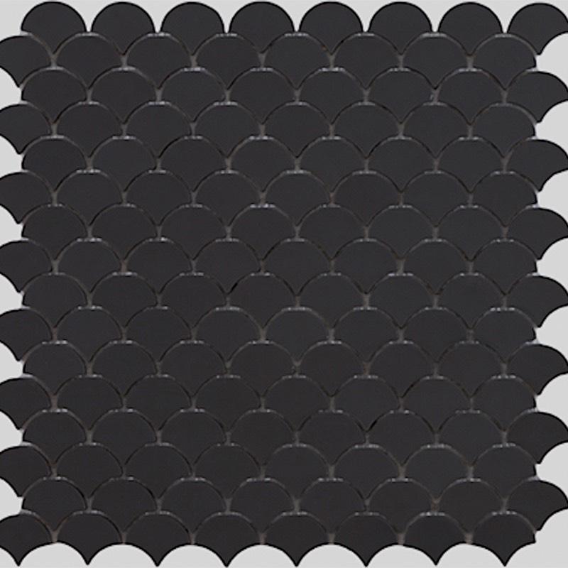 soul matt black glass mosaic tile