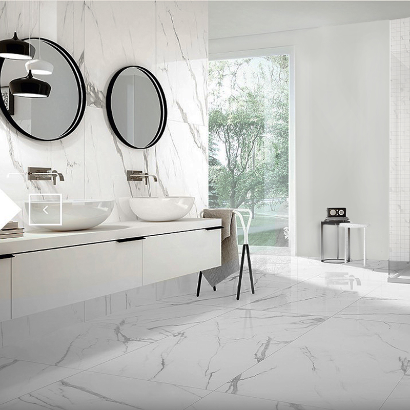 calacatta lux polished porcelain tiles