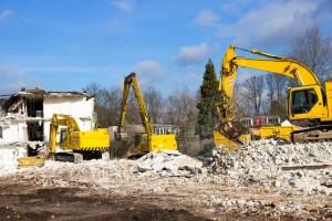 demolition work site