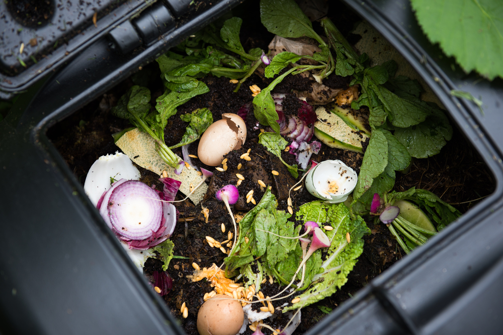 open home compost bin
