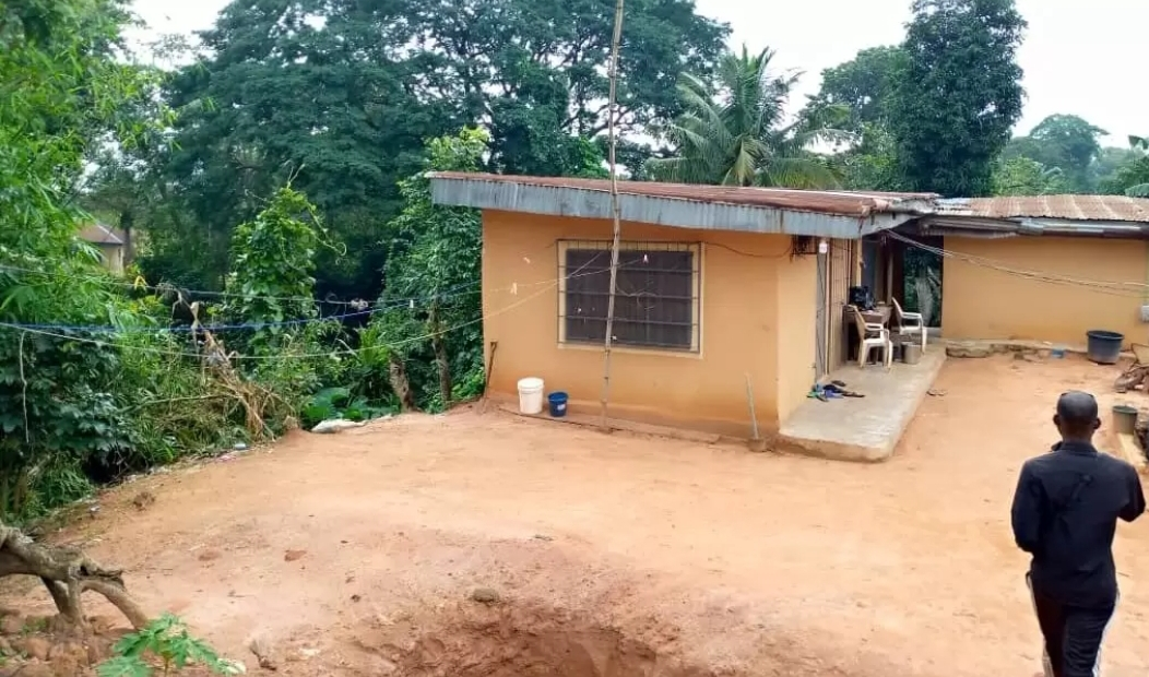 Mr Onoh's house located between colliery and Amuzam mines.