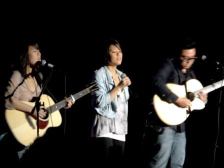 Janice Lee, left, Sonia Lee and Andrew Garcia.