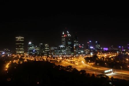 Perth city skyline.
