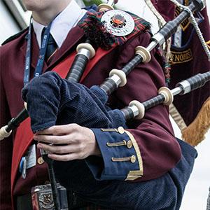 The official Scotch piper's uniform