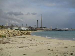 Industries along Challenger Beach