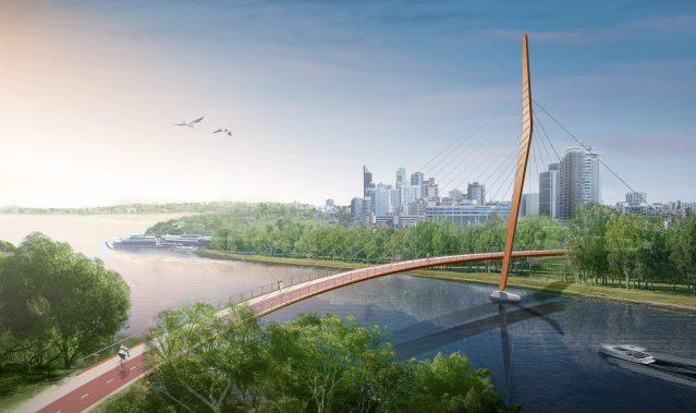 Preliminary designs for the new Swan river bridge
