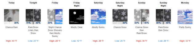 5 Day Forecast