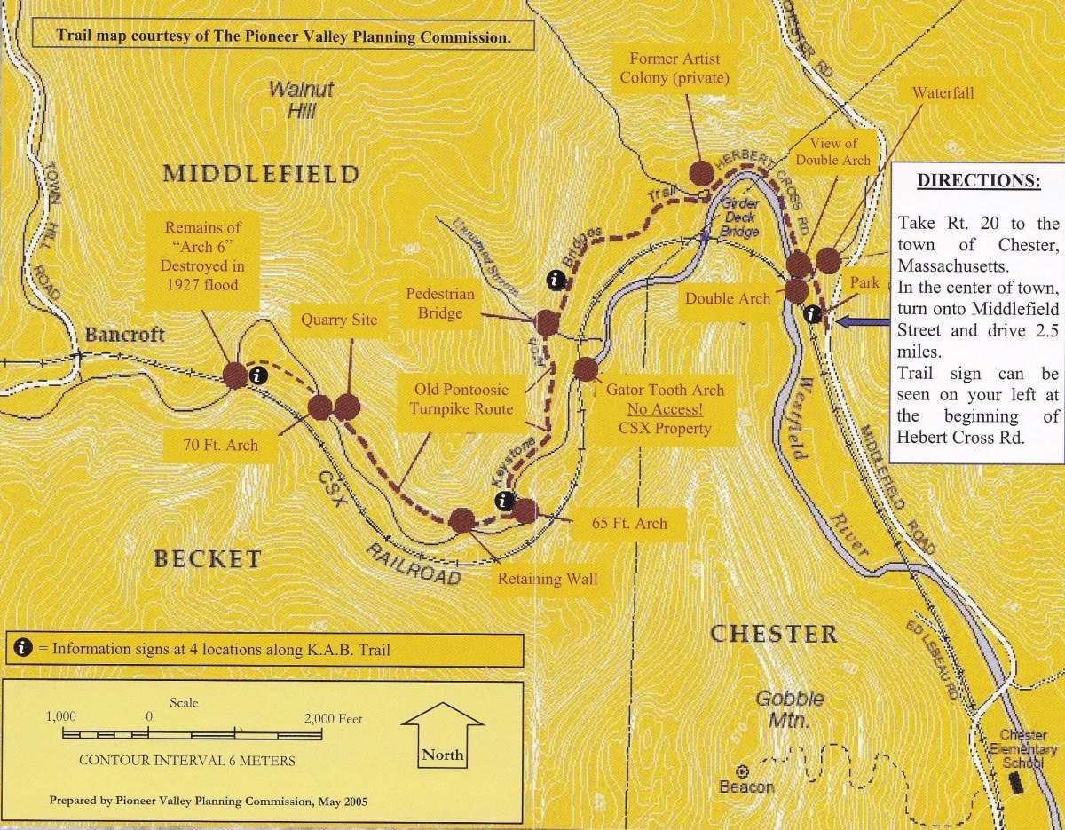 Chester Keystone Arch Map