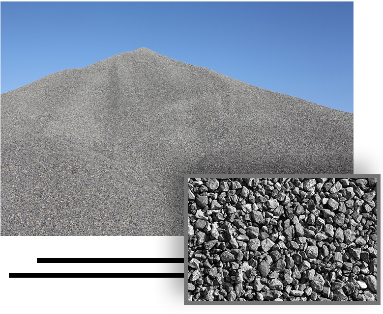 gravel and crushed rock