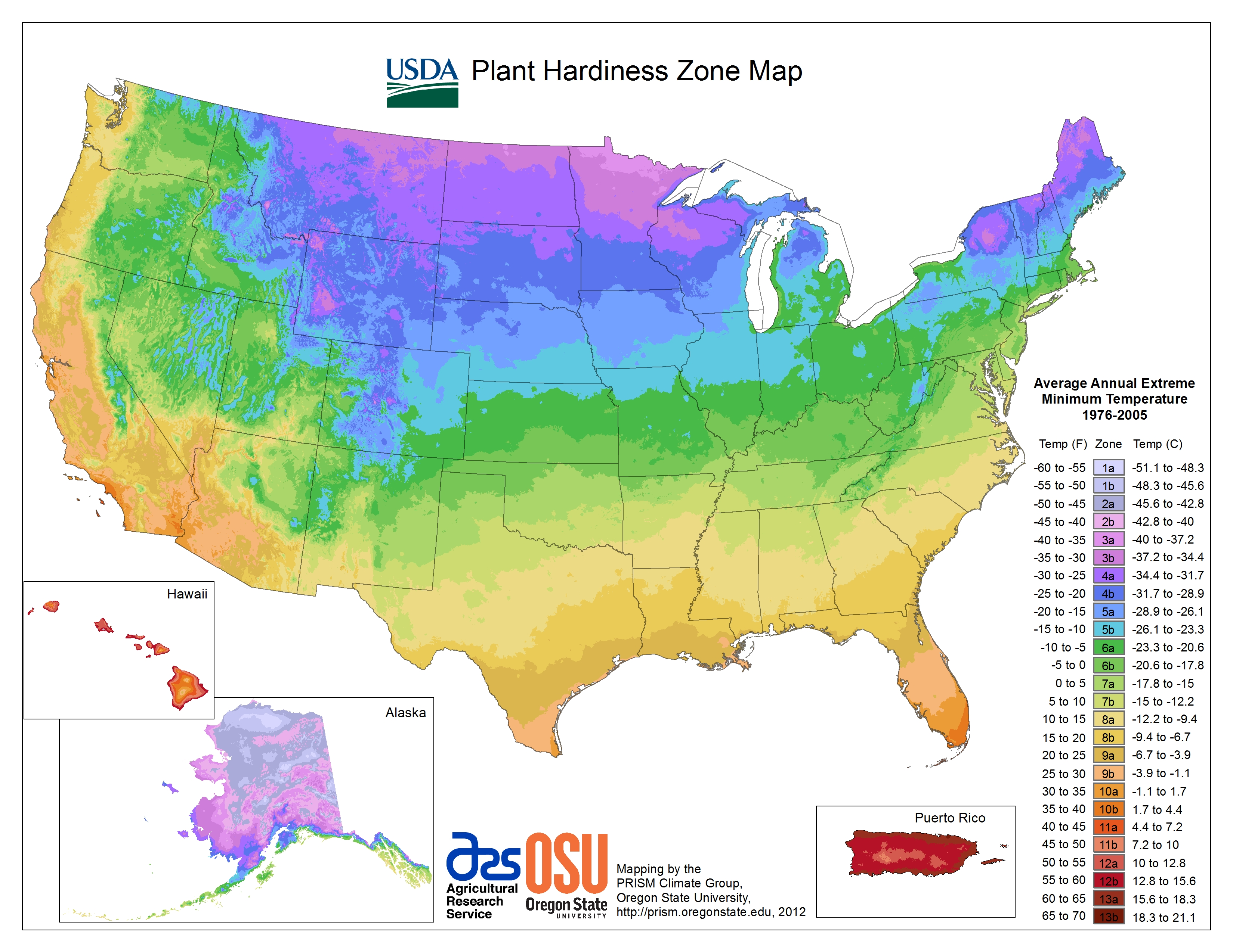 How To Use The Plant Hardiness Map