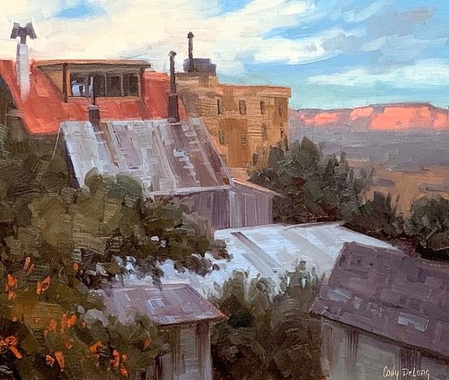 School Street View  Oil Cody Delong Studio