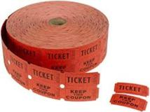 DOUBLE ROLL TICKET RED 2000