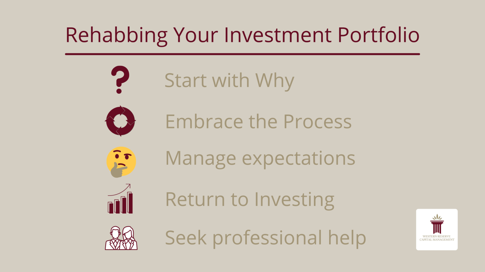 Rehabbing Your Investment Portfolio