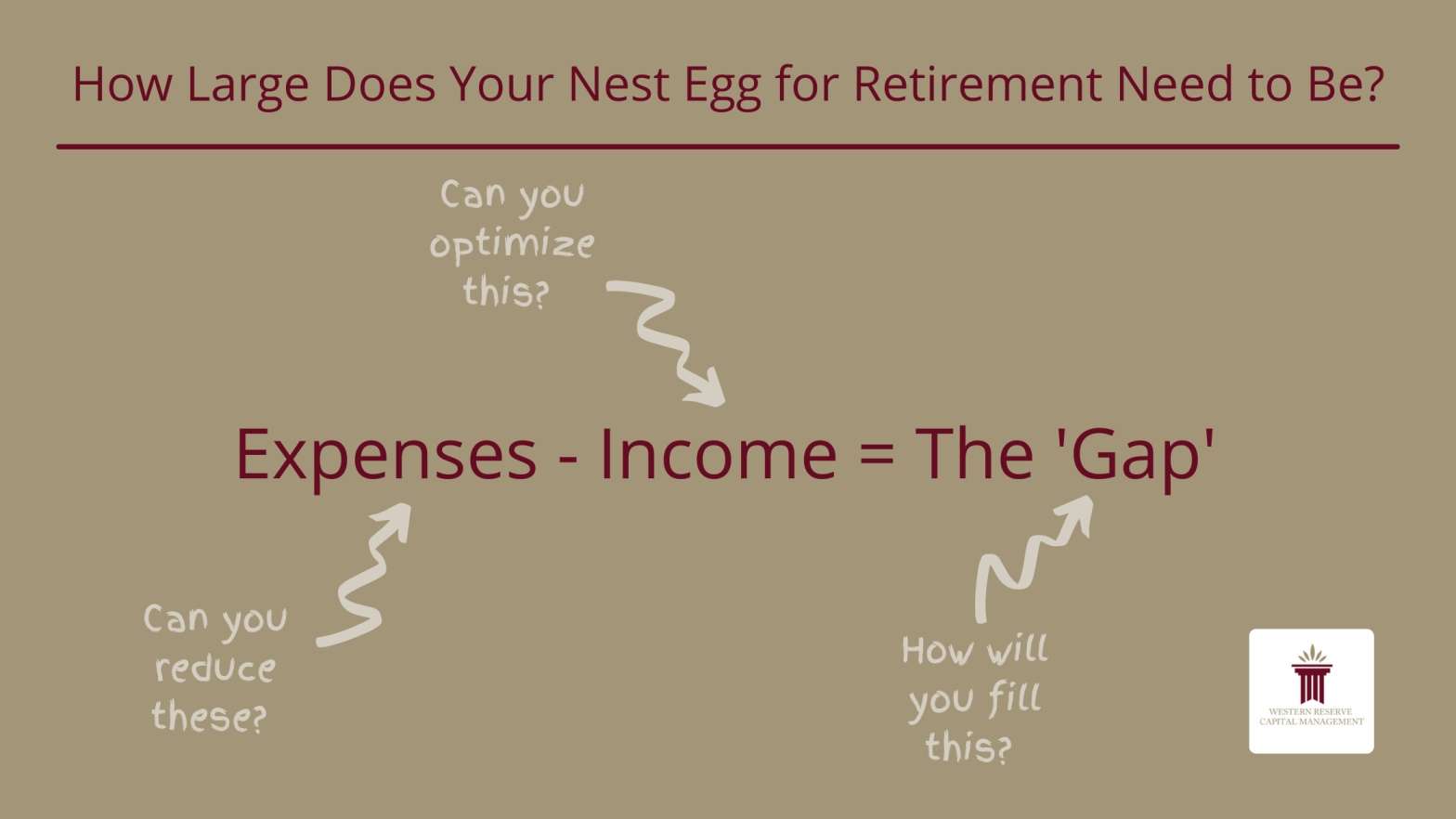 How Large Does Your Nest Egg for Retirement Need to Be?
