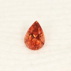 Sunstone Reddish Orange Pear Cut