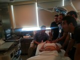 Dr. Scott Millington teaching a group about echo