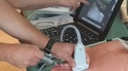 Hands on vascular access session concurrent with hands-on scanning.