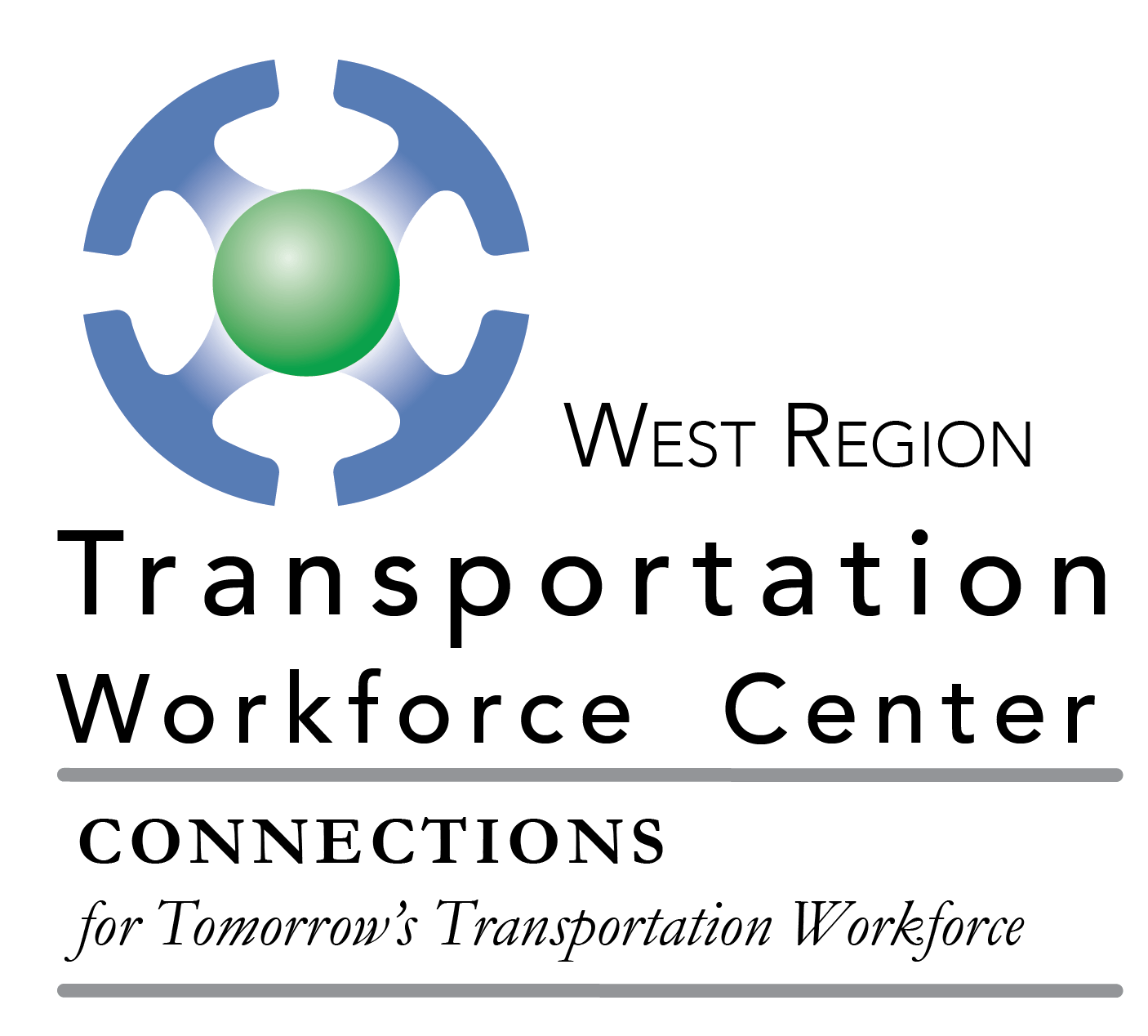 Logo for West Region Transportation Workforce Center, Connection for Tomorrow's Transportation Workforce