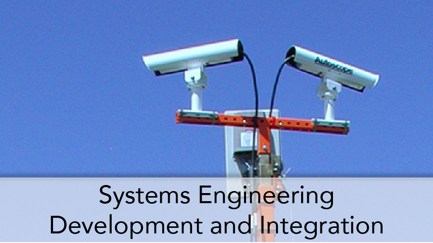 WTI-ProgramThumbTitle-Systems Engineering Development and Integration. Image Subject Cameras and Communications antennas that are part of a standand alone remote communications traffic monitoring trailer.