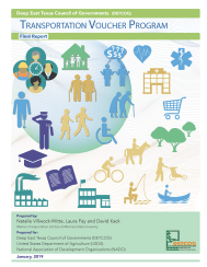 Image of the front cover of a report called Deep East Texas Council of Governments Transportation Voucher Program Final Report