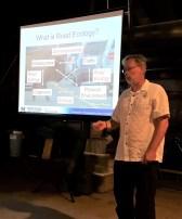 Marcel Huijser giving Road Ecology presentation in Wyoming