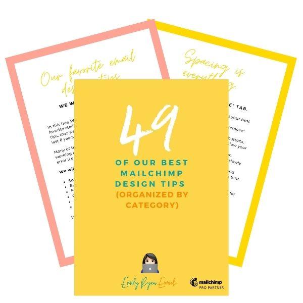 49 Mailchimp Design Tips