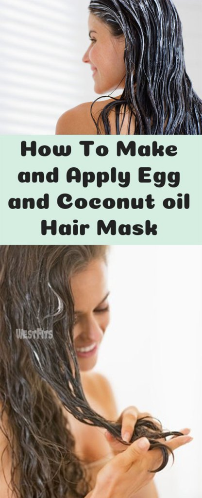 How To Make and Apply Egg and Coconut oil Hair Mask