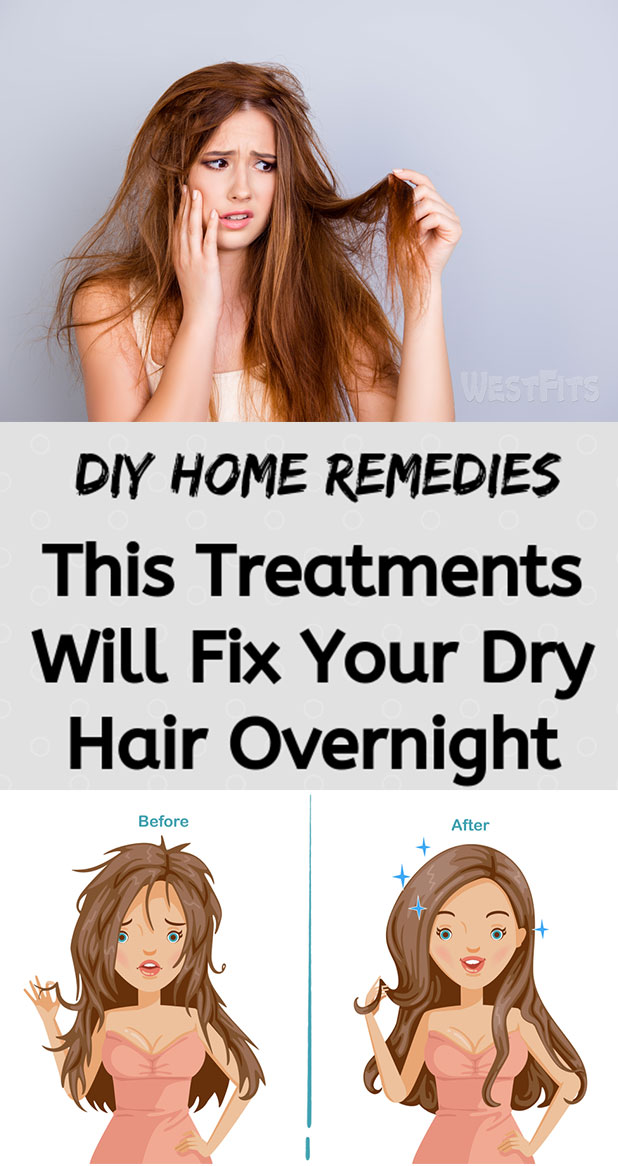 DIY Home Remedies for Dry Hair, This Treatments Will Fix Your Hair Overnight