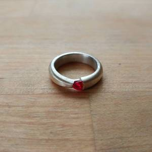 Custom Hand Fabricated Ruby Ring