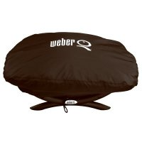 Weber Q Grill Cover, Vinyl Bonnet, For Q1000 & Q100