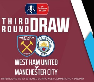 FA Cup Third Round- Hammers to host Manchester City