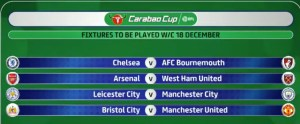 Hammers to play Arsenal in the quarterfinals of the Carabao Cup