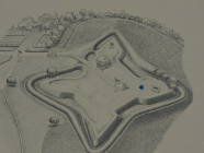 Layout of the grounds, showing part of walking trail