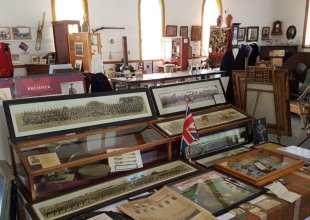 weest hants historical society museum exhibit interior 2016