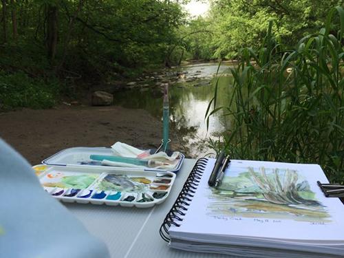 Sketching at Darby Creek