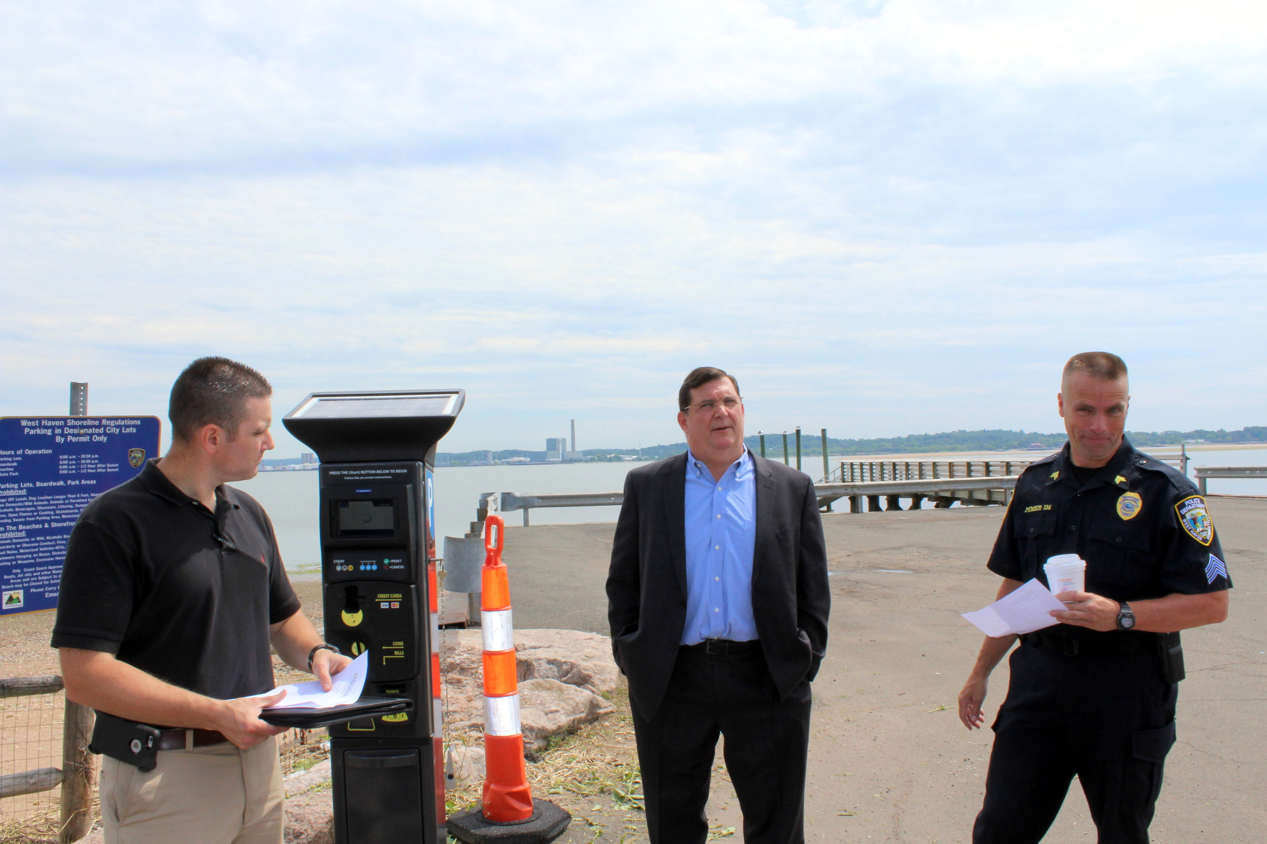 Additional parking meters installed in beach lots