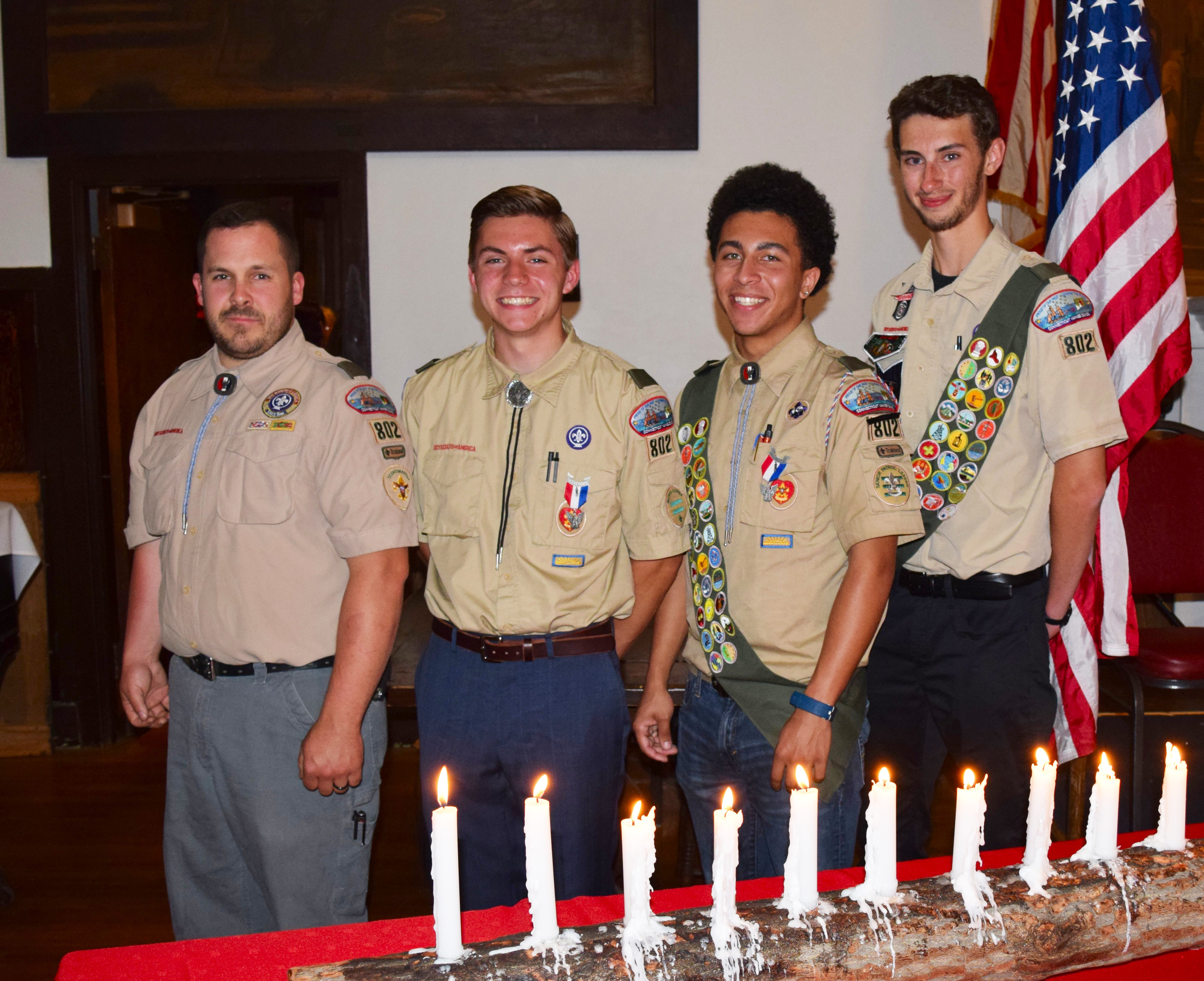 City trio raised to rank of Eagle Scout