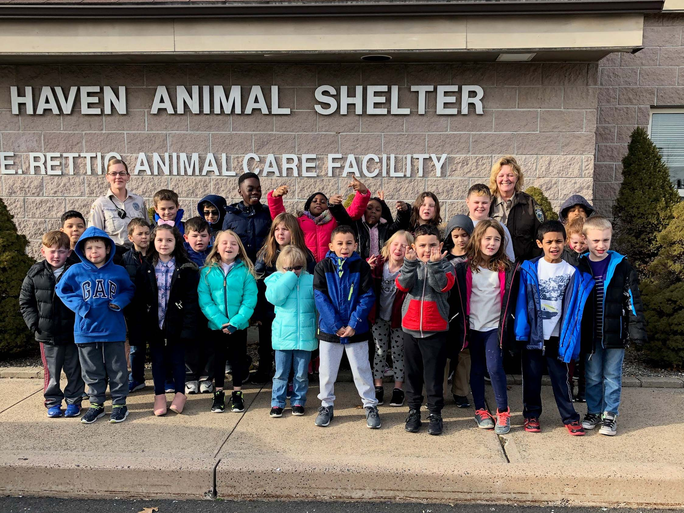 Visiting the shelter
