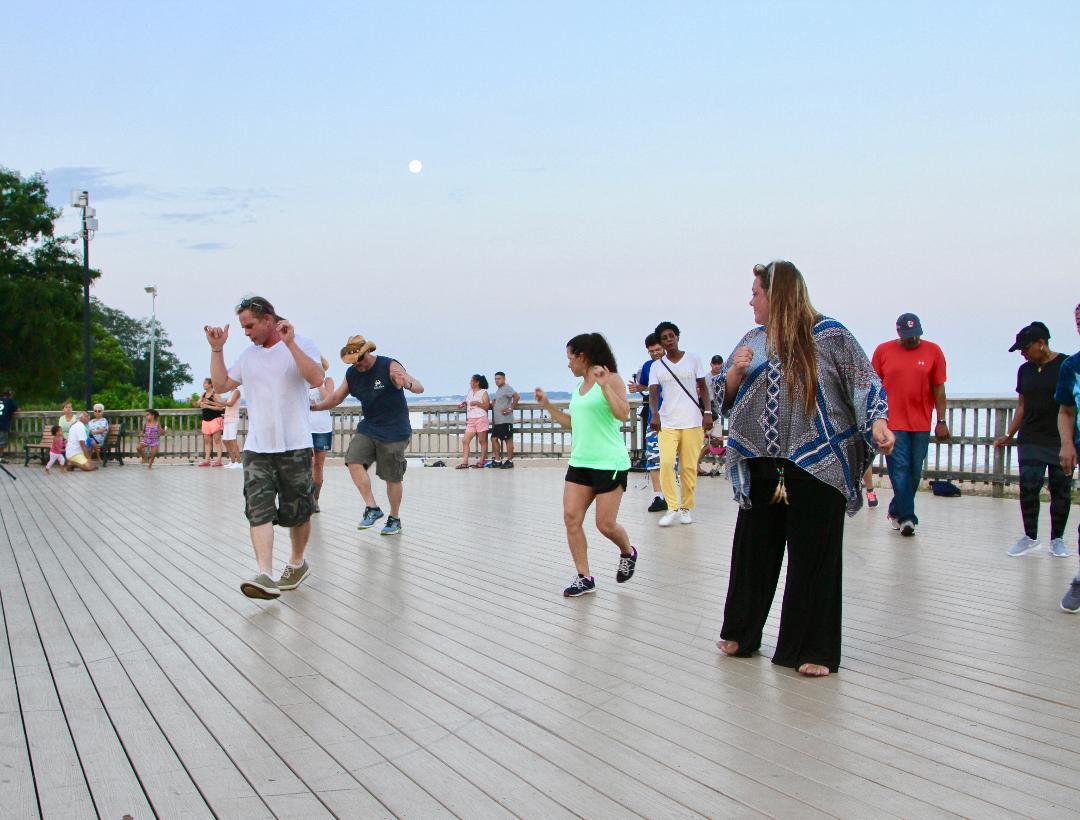 Dancin' on the deck