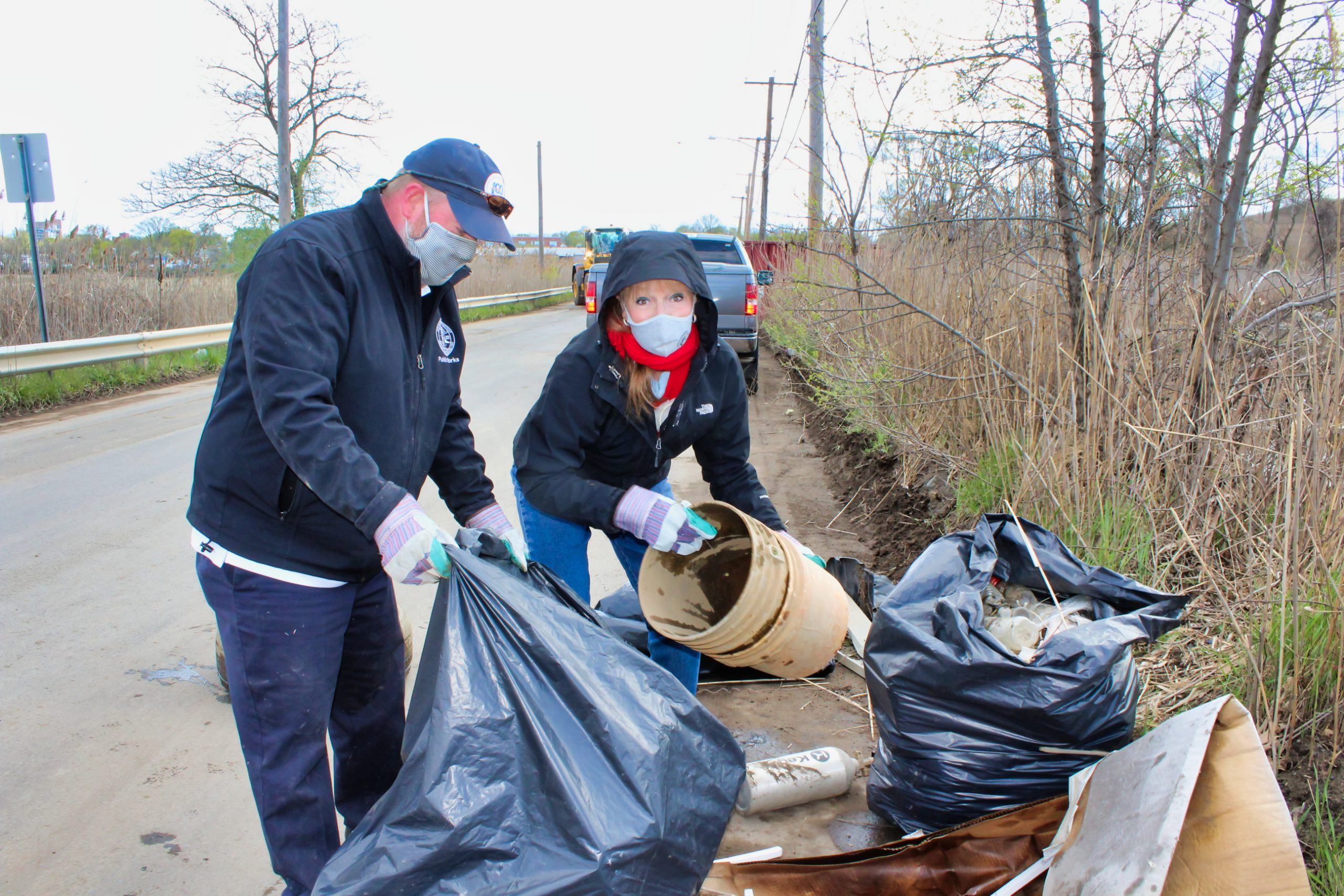 Spring Street cleanup