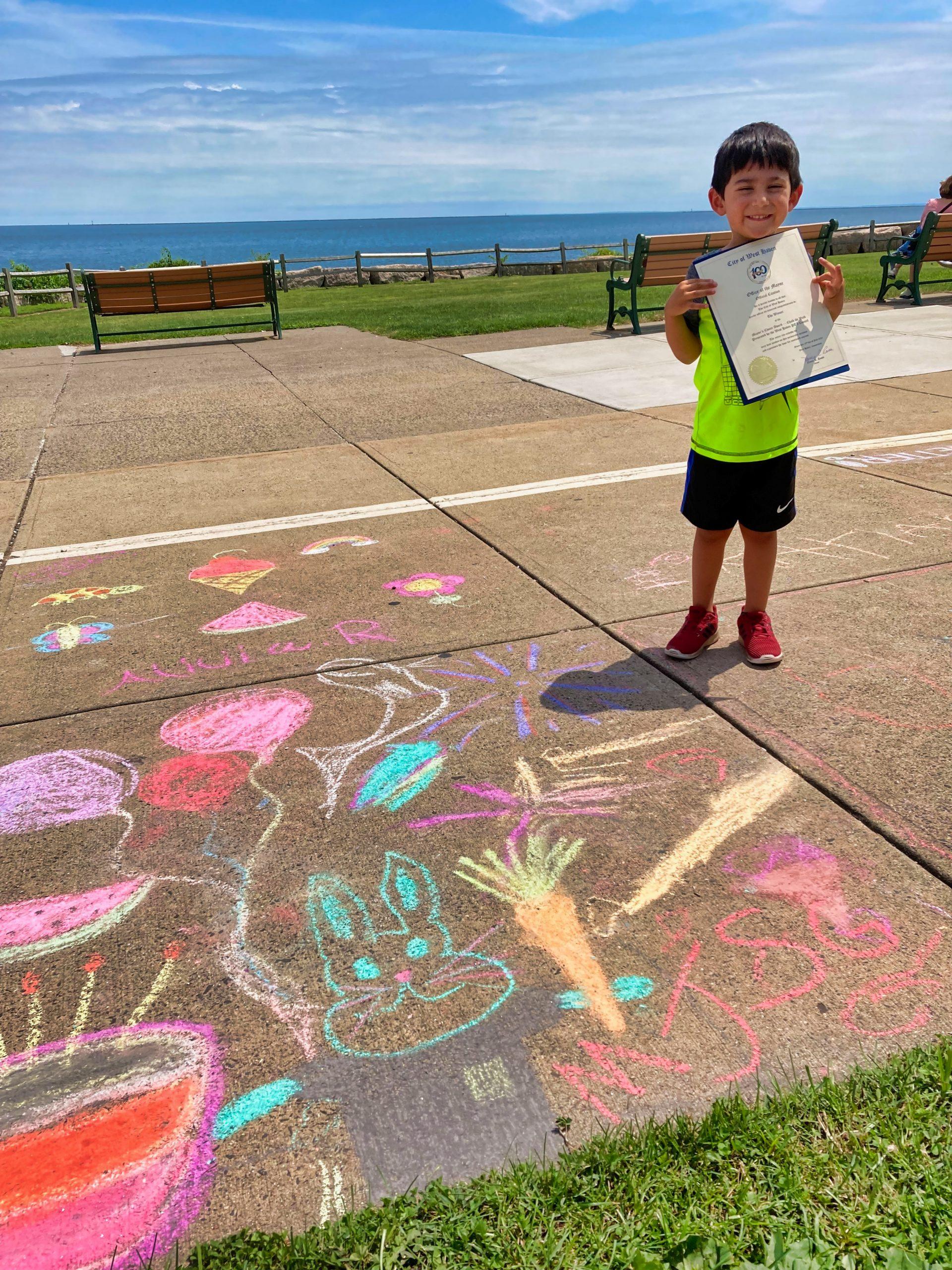 'Chalk the Walk' celebrates centennial