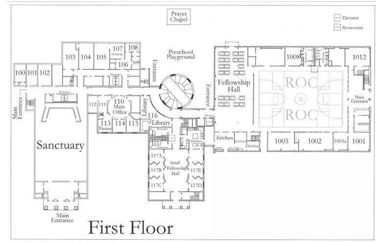WHBC Building Map (First Floor)