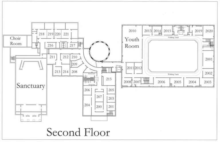 WHBC Building Map (Second Floor)
