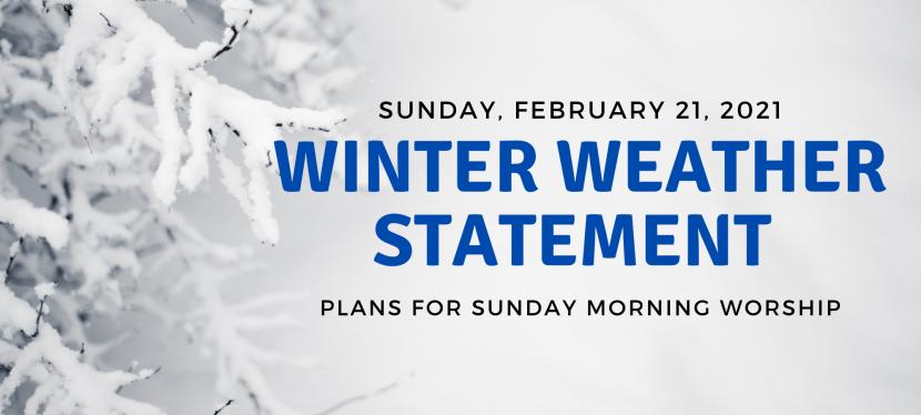 Winter Weather Statement