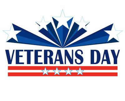 This picture showcases the official logo that promotes Veterans Day and the importance of celebrating it.