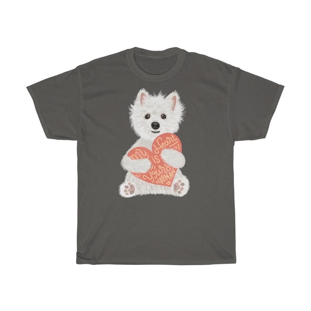 5 Perfect Gifts for Westie Lovers in 2021 - Westie Heart Dark Grey T-shirt